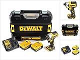 DeWalt DCF 887 P2 - Avvitatore a percussione a batteria, 18 V, 205 Nm, senza spazzole + 2 batterie da 5,0 Ah + caricatore + TSTAK
