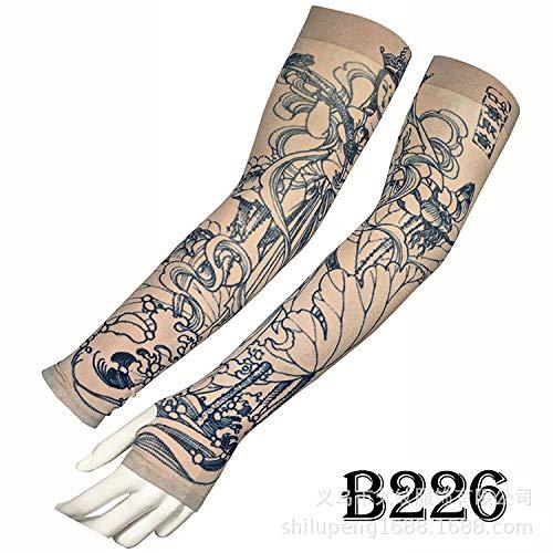 tzxdbh Tattoo-EIS-Hüllen Hochwertige Echteis-Seiden-Tattoo-Hüllen Sonnenschutz UV-Schutz-EIS-Hülle