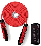 Jump Ropes for Fitness Workouts Professional Double Ball Bearing Weighted for Training Jumping...