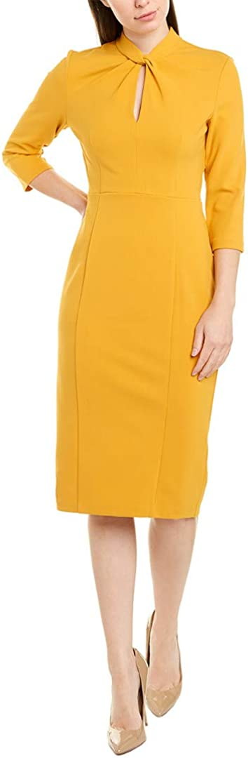 Donna Morgan Women's Knotted Crepe Sheath Dress
