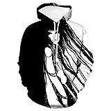 Sudadera con Capucha Unisex 3D de Forro Polar con Bolsillo de Canguro Chica Anime para Hombre Adolescentes Sweatshirt Hombre Mujer Sudadera con Capucha Casual Manga Larga Pullover