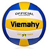 Official Volleyball - Waterproof Indoor/Outdoor Volleyball for Pool,Game ,Gym ,Training ,Beach Play ( Size 5 ) -Blue