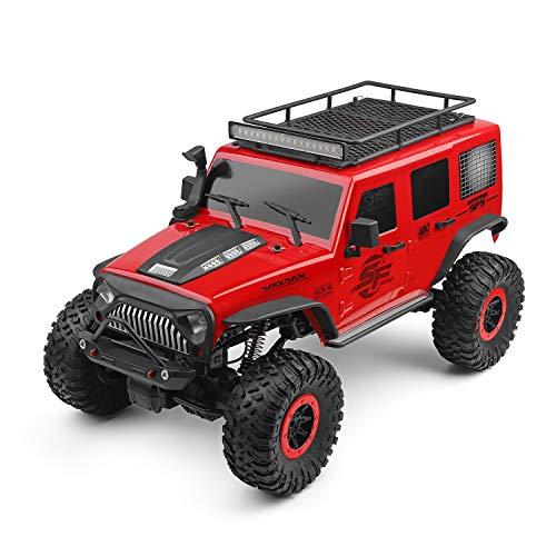 Goolsky WLtoys 104311 RC Coche 2.4G 1/10 4WD Jeep Coche SUV Motor Cepillado Control Remoto...