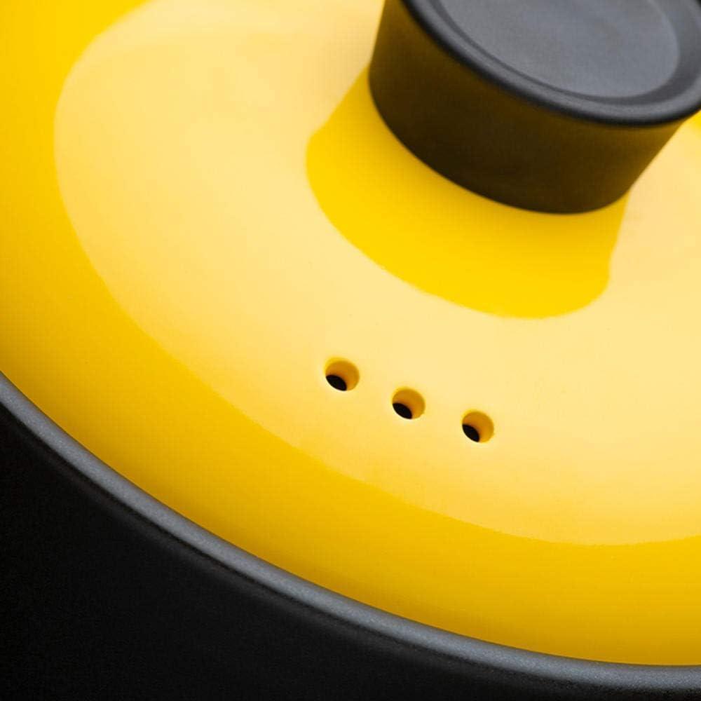 LIUSHI Pot à ragoût en Terre Cuite Pots en céramique pour la Cuisson du Four hollandais: Facile à Verser, Prise Confortable, antidérapant Facile à prendre-4L 6l
