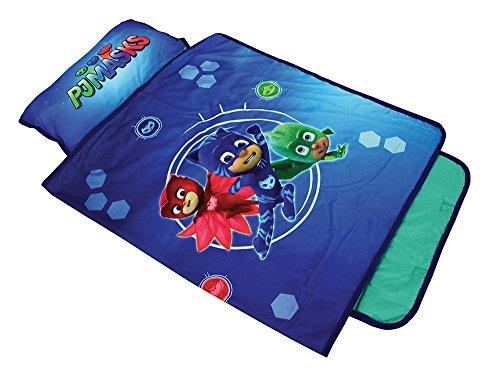 FUN HOUSE 712975 PYJAMASQUES Tapis de Sieste / Sac de couchage pour enfant L.55 x P.121 cm