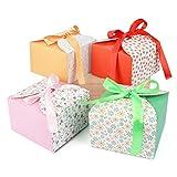 Cajas Cartón (20 Piezas) 14,7 x 14,7 x 9,4cm - Cajas Regalo Carton con Cinta para Bodas, Damas de Honor, Baby Shower, Cumpleaños, Pasteles Caseros, Galletas, Dulces