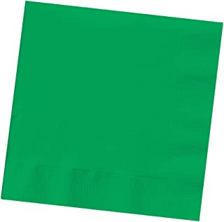 Creative Converting Touch of Color 3-Ply 50 Count Paper Beverage Napkins, Emerald Green