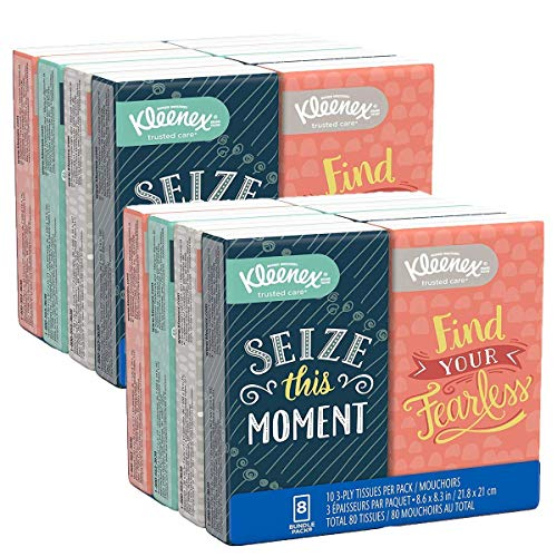 Facial Tissues OnTheGo Small Packs Travel Size 10 Tissues per Go Pack 16 Packs