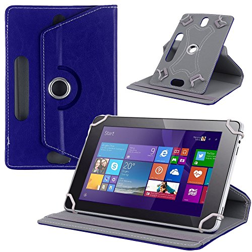 NAUC Tasche Hülle für ODYS Ieos Quad 10 Pro Schutzhülle Tablet Cover Hülle Bag Etui, Modellauswahl:Blau 360° mit Univ. Kameraausschnitt