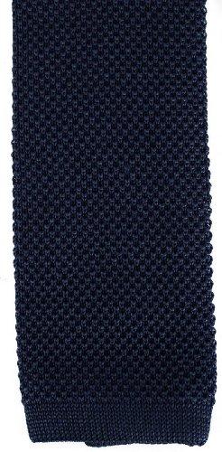 David Van Hagen Plaine Marine cravate en tricot de
