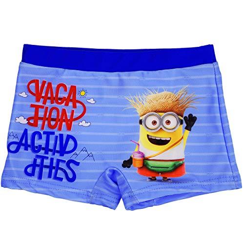 alles-meine.de GmbH Badehose / Badeshorts - Minions - ich einfach unverbesserlich - Größe 8 bis 9 Jahre - Gr. 134 bis 140 - für Jungen Kinder Badepants - Boxershorts Shorts mit B..