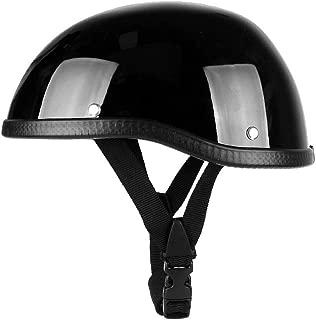 RONSHIN Unisex Professional Motorcycle Half Helmet Hat Cap for Harley Chopper Bobber Matte black