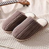 XZDNYDHGX Zapatillas de Estar por Casa Mujer,Zapatillas de casa para Mujer Invierno para Mujer, Calzado Plano y cálido de Felpa sin Cordones Pareja Informal Marrón EU 43-44