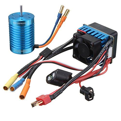 MYAMIA Rennsport 60A Esc Speed Controller F540-3000Kv Brushless Motor Für 1/10 1/12 Rc Auto