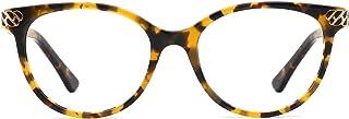 26c76a28ce7 TIJN Color Contrast Cat Eye Glasses Frame for Women Men