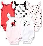 Hudson Baby Unisex Baby Cotton Sleeveless Bodysuits, Ladybug, 3-6 Months