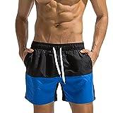 WINJIN Shorts de Bain Homme Bermudas de Muscalation Maillots de Bain Piscine Shorts de Plage Slips de Bain Homme Shorts Jogging Pas Cher Skinny Pantalon Sport Slim Shorts Cordon Patchwork