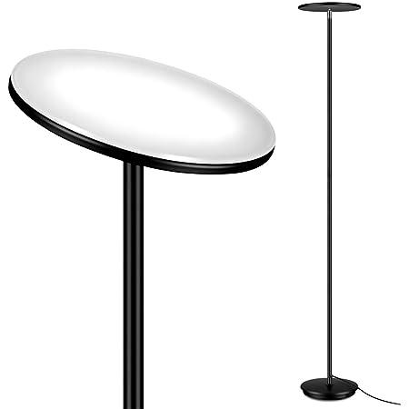 JUNING Lampadaire à LED 40W 3600 lumens 3000k 5 niveaux de luminosité lampadaire sur pied salon contrôle tactile, gradation progressive lampadaire moderne sur pied 180cm