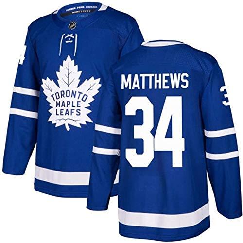 XIAORU NHL Mitch Marner 16 / Auston Matthews 34 / Rielly 44 / William Nylander 29 / John Tavares 91 Toronto Ahornblätter Herren Field Hockey Kleidung Training Trikots,34,XL