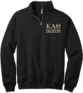 Sorority Letters Shop Women's Kappa Alpha Theta Quarter Zip Pullover