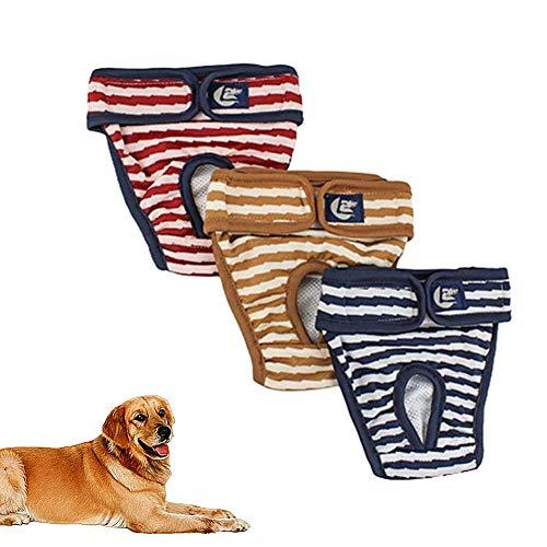 Hundewindeln Hundewindeln RüDe Hundesaison Hosen Windeln für Rüden Hund Windel männlich Windeln für Hunde Hygienehosen für Hunde Windel Hündin 3 Color,XL