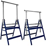 Deuba 2X Telescopic trestles Max. 200 kg Height adjustable 81 to 130 cm Set of 2 | DIY, works
