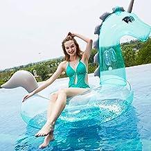 Mopoq 2021 Nuevo Lentejuelas Transparente Verde Unicornio Monte Fila Inflaje In Inspague Inflatable Natación Sillón Silla Silla Natación Agua Juego de Agua Interactive Seaside Vacaciones