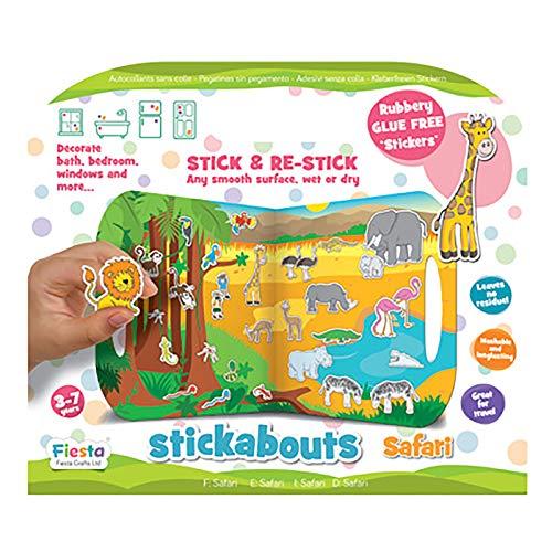 Fiesta Crafts stickabouts Hadas Reutilizable Adhesivo Juguete BN