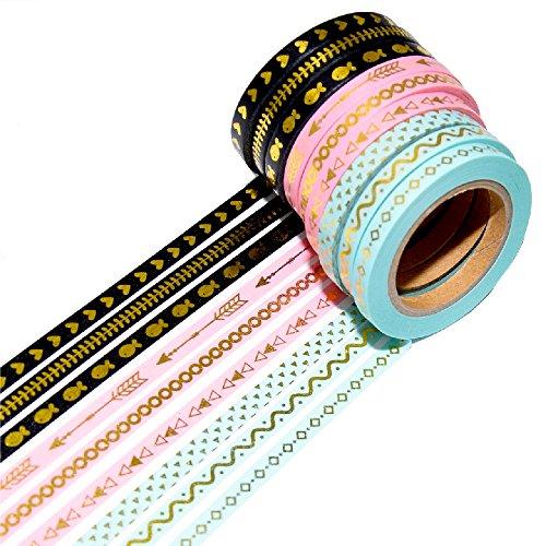 k-limit 9 Set Washi Tape Rotoli di Nastro Adesivo Masking Tape Washitape Scrapbooking DIY Natale Christmas Idee Regalo 8759