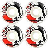 TGM Skateboard Wheels 52mm White Logo
