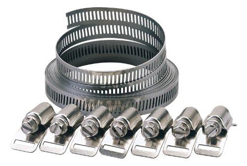 12 Mm, bagues, colliers de serrage nécessaire à l'utilisateur, longueur : 2–élastiques disponibles largeur, 8 et 12 mm, chaque ensemble est livré avec 3 m de longueur et 8 fourchettes-élastiques clamps. display.