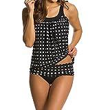 KaloryWee 2019 Badeanzug Tankini Set Damen 2 Piece Bauchweg Bademode Bikini Badeanzüge mit Hotpants Badebekleidung Zweiteilige Tunika Kleid