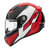SCHUBERTH Helm SR2 Wildcard, schwarz-weiß-rot, 55 S