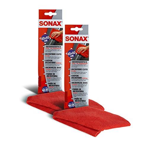SONAX 2X 04162000 MicrofaserTuch Außen - der Lackpflegeprofi Fusselfrei 1 Stüc