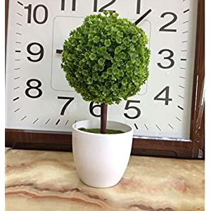 Artificial and Dried Flower Home Decoration Artificial Flowers for Wedding Decoration Desktop Green Potted Plants Cherry Tree Snowball Simulation Plastic