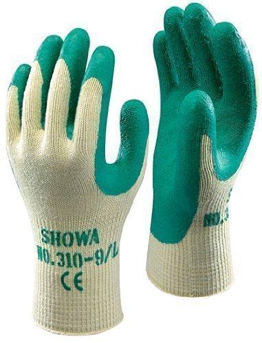 Showa 310 Verde Grip Trabajo & Guantes Jardinería Talla 7 / Pequeño