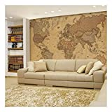 wall26 - Antique Monochrome Vintage Political World Map - Wall Mural, Removable Sticker, Home Decor - 100x144 inches