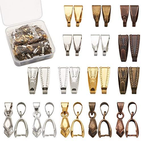 Cheriswelry - 30 cierres de clip con 450 piezas de ganchos para colgar en la fianza