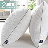 BedStory Almohadas Bambú 50x75 Almohada 2 Pack con Funda de Lavable Almohada Antiácaros con 80% de 3D Fibra + 20% de 7D Fibra de poliéster Relleno de Almohadas de Calidad Hotelera