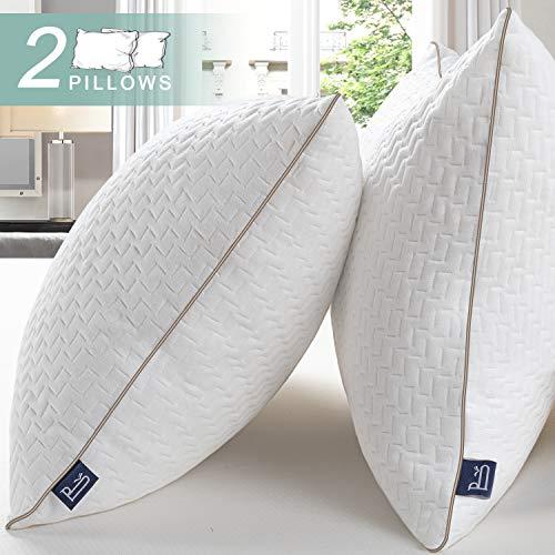 BedStory Almohadas Bambú 50x75 Almohada 2 Unidades con