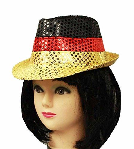 HAAC - Cappello per tifosi con paillettes, in Germania