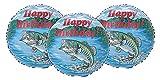 Happy Birthday Largemouth Bass Fishing Party Decoration 17' Balloons - Set of 3