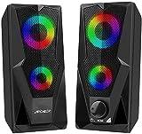 2 Casse PC,ARCHEER, Cassa per pc 2*5W Altoparlanti USB Stereo Speaker Altoparlante Control...