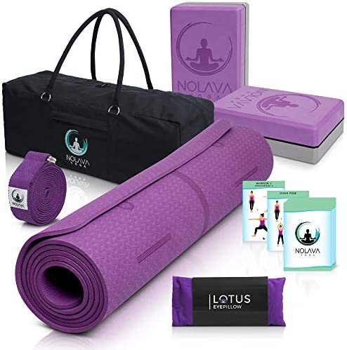 NOLAVA 7 PIECE YOGA MAT SET Yoga Mat Bag for yoga accessories TPE ECO Friendly Yoga Mat Yoga product image