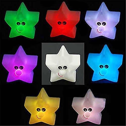 Nuohuilekeji Veilleuse LED brillante en forme d'étoile 7 couleurs changeantes