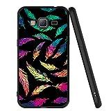 ZhuoFan Coque Samsung Galaxy J3 2016, Etui en Silicone Noir avec Motif 3D Fun...