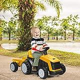 Immagine 1 costway trattore elettrico per bambini