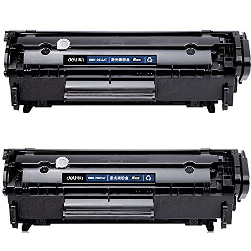 AZXC Reemplazo de Cartuchos de tóner Compatible para Deli DBH-2612AT, Trabajo de Alto Rendimiento con impresoras HP1010 / 1018/1020, con Chip 2-Black