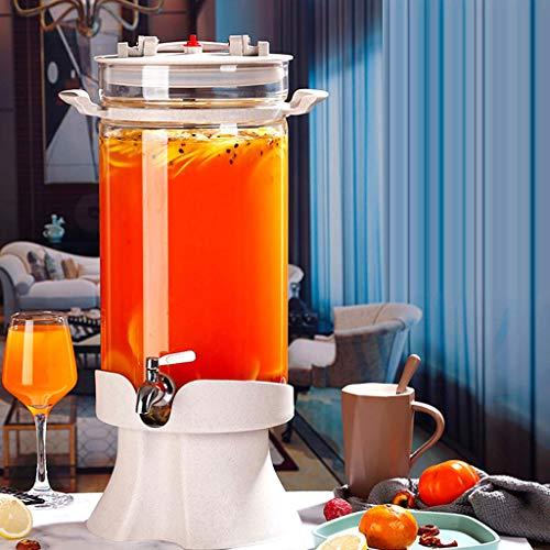 Bucket Yxx@ Dispensador de Bebidas con Grifo Dispensador Bebidas Botella Vidrio 5KG-10KG Jarra de Zumo Tarro de Cristal