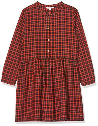 Noppies Mädchen G Dress ls Champlin Kleid, Mehrfarbig (Brick Red P212), (Herstellergröße: 122)
